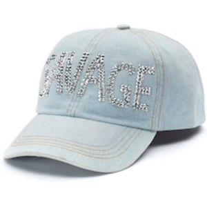 🆕Mudd Kitsch Bling Rhinestone Savage Jean Hat